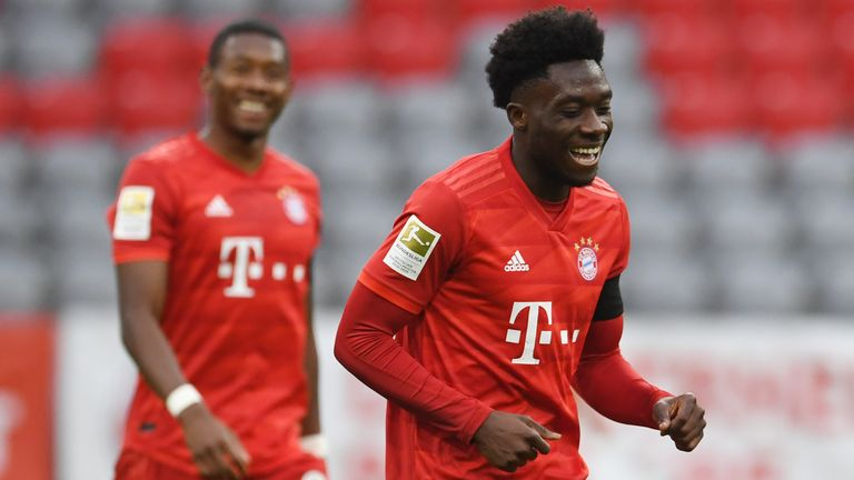 Davies has become a Bayern regular and signed a new five-year deal this year