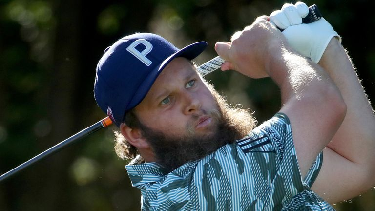 Andrew Johnston is three off the pace at halfway