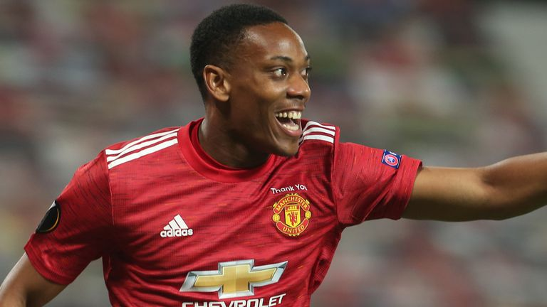 Anthony Martial scored Manchester United's second