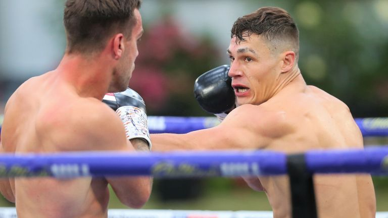 Chris Billam-Smith stopped Nathan Thorley in the second round at 'Fight Camp'