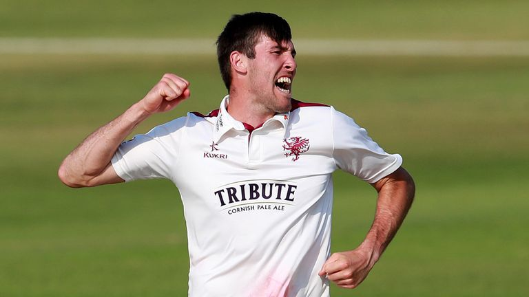 Jamie Overton took for wickets as Somerset skittled Northants