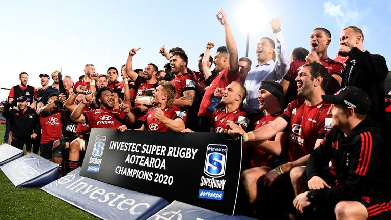 The Crusaders were crowned champions of the inaugural Super Rugby Aotearoa competition