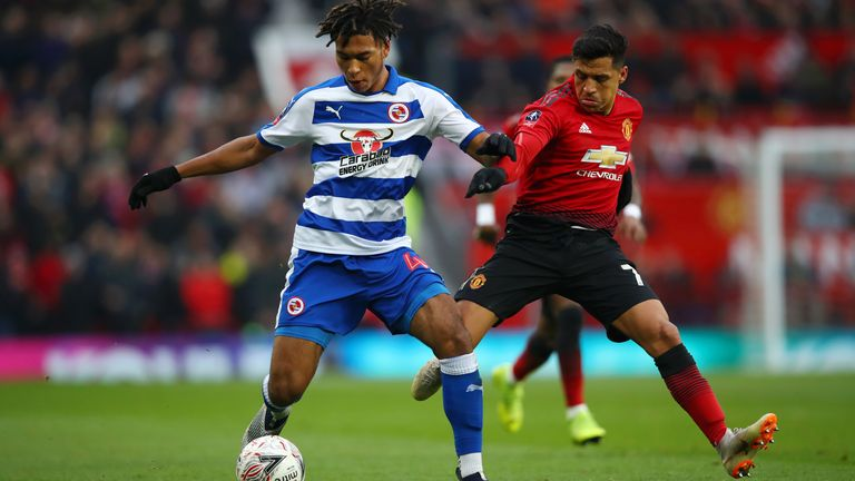 Loader took on Alexis Sanchez and Manchester United with Reading in the FA Cup at Old Trafford in January 2019