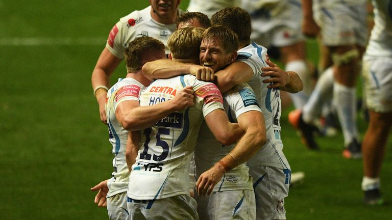 A much-changed Exeter Chiefs side won an enthralling contest against Bristol on Tuesday
