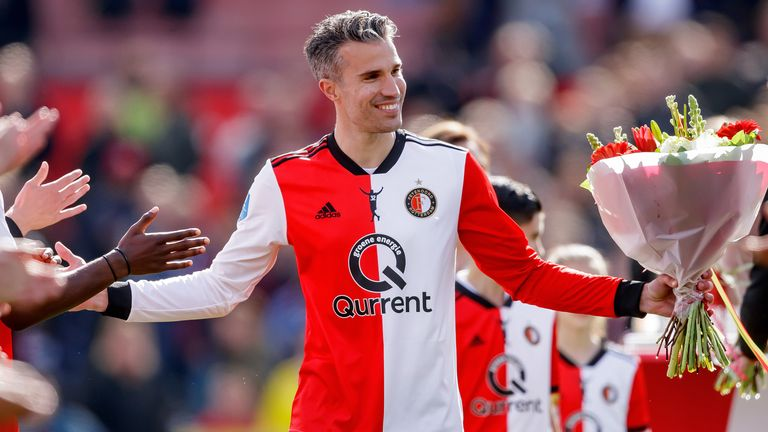 Van Persie ended his playing career with his boyhood side Feyenoord, featuring in his last game for the club in May 2019