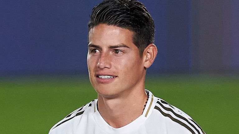 James Rodriguez will link up with Carlo Ancelotti for the third time