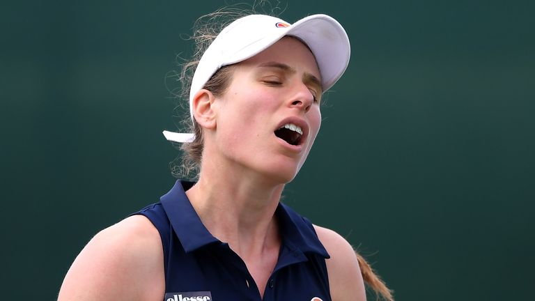Johanna Konta was playing her first tournament since March as the build-up to the US Open begins.
