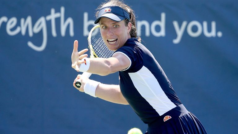 Johanna Konta has continued her impressive build-up to the US Open