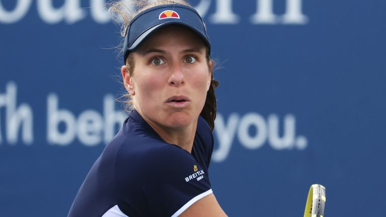 Johanna Konta will take part in another battle of the Brits for a place in the second round at Flushing Meadows