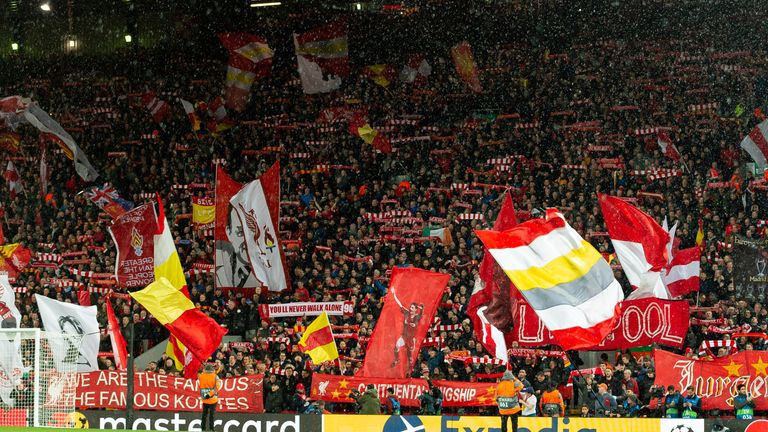 Over 50,000 fans watched Liverpool versus Atletico Madrid at Anfield in the Champions League last 16 in March