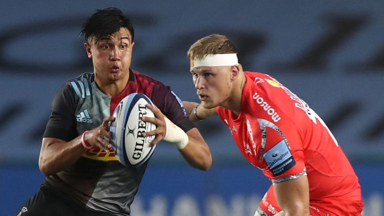 Marcus Smith kicked Harlequins to victory over Sale last weekend