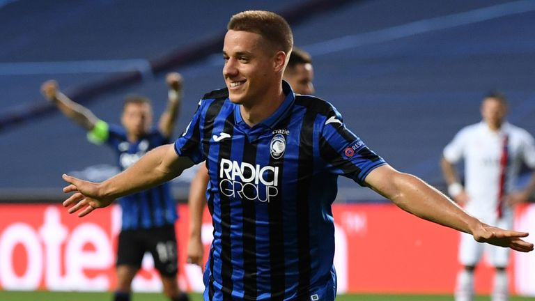 Mario Pasalic celebrates the opening goal for Atalanta - but it proved in vain