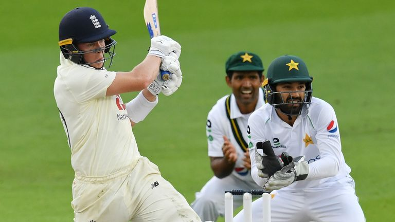 Pope's first-innings fifty rescued England from 12-3