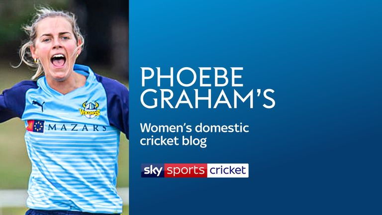 Phoebe Graham in action for Yorkshire (Picture credit: John Heald Photography)