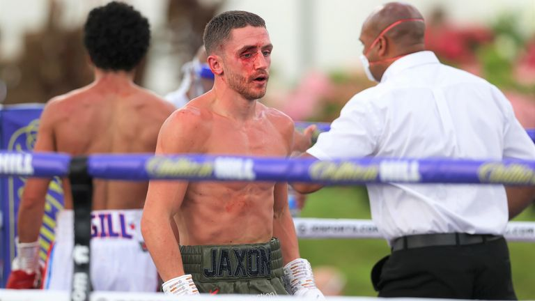 A gaping cut troubled Bellotti from the sixth round
