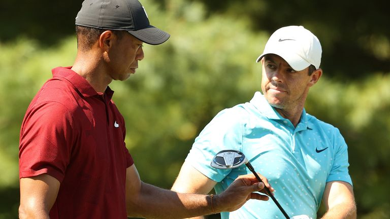 Rory McIlroy and Tiger Woods played together at the Northern Trust
