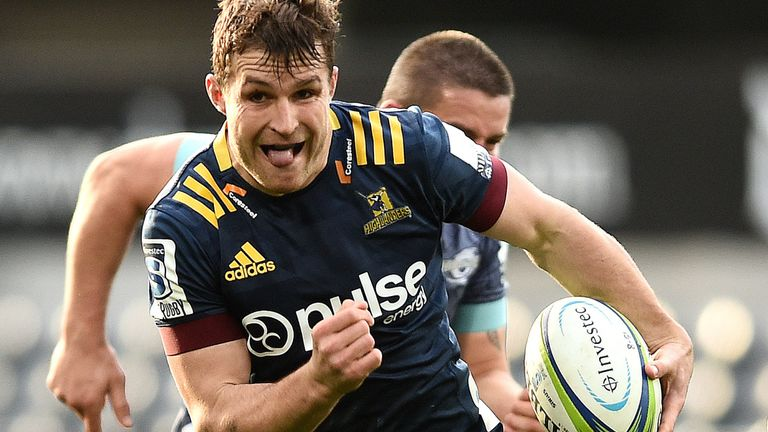 Michael Collins starred in the Highlanders' win over the Hurricanes