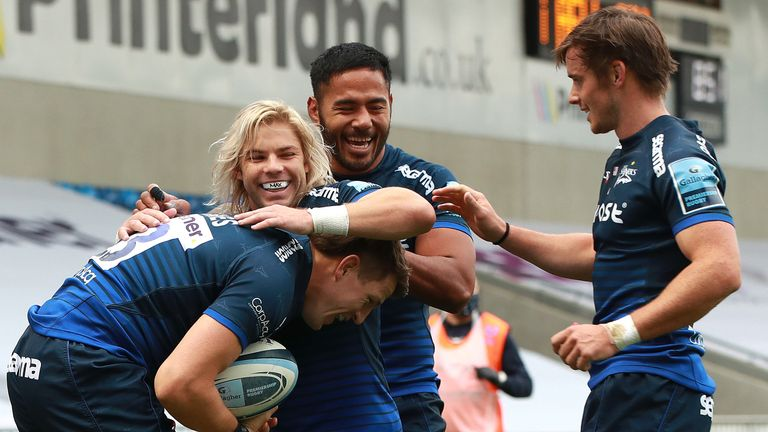 Sale Sharks moved above Bristol and into second in the Premiership table courtesy of a 40-7 rout