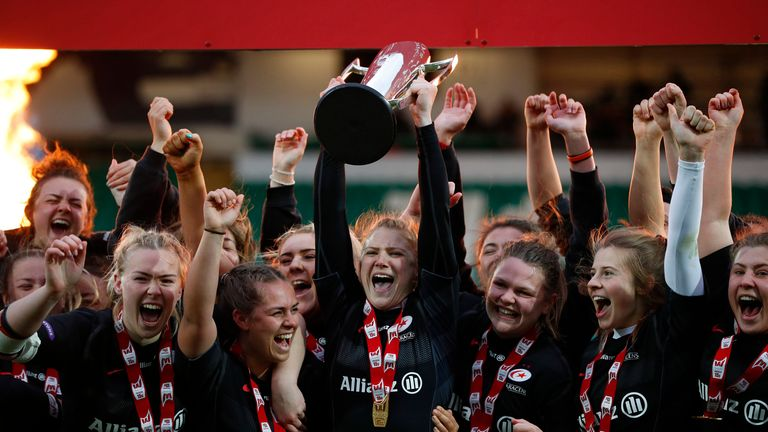 Saracens Women have won the first two editions of the Premier 15s and were leading the table when this season was cancelled