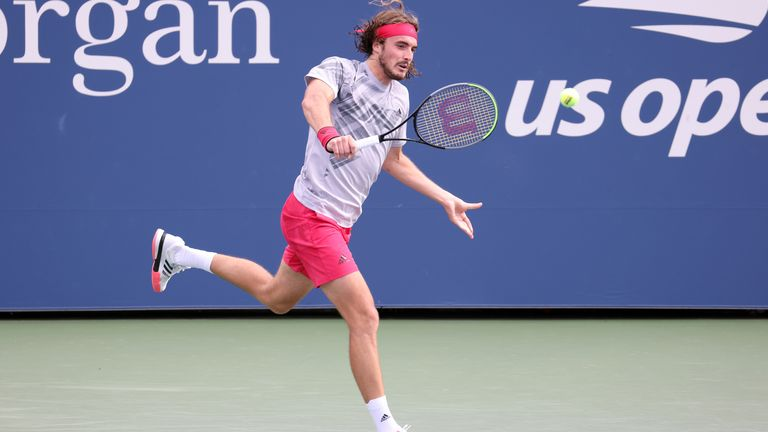 Stefanos Tsitsipas breezed into the second round at Flushing Meadows