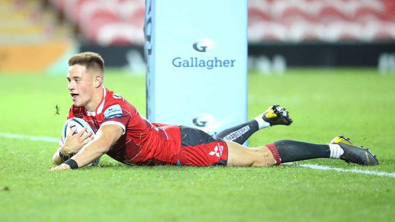 Stephen Varney scored one of three Gloucester tries, but they were well beaten