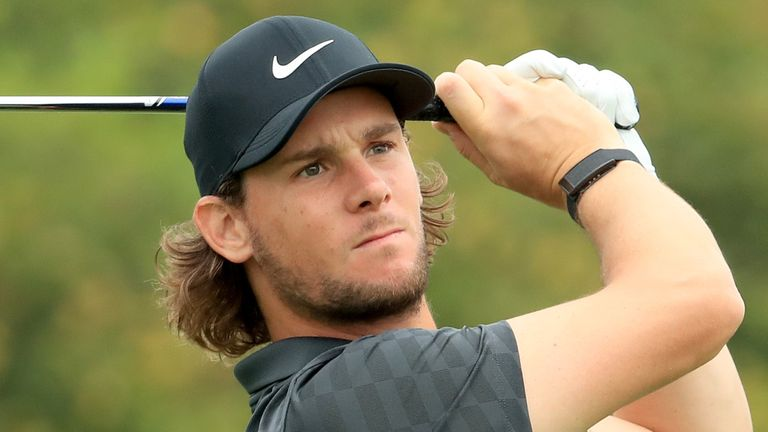 Thomas Pieters holds a one-shot lead at Celtic Manor