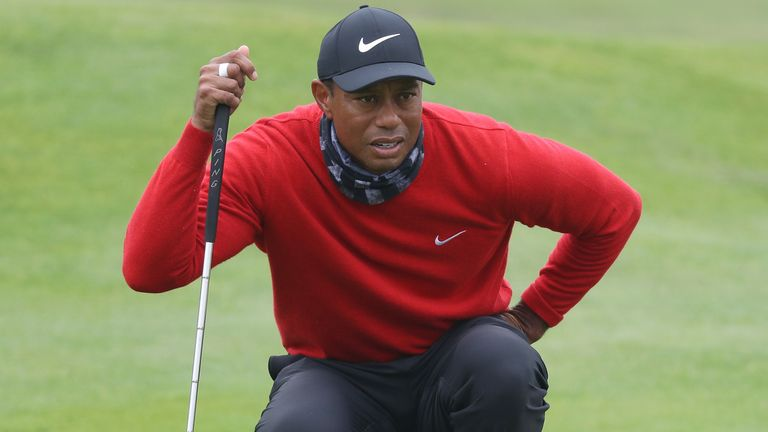 Woods was too far back to contend on Sunday