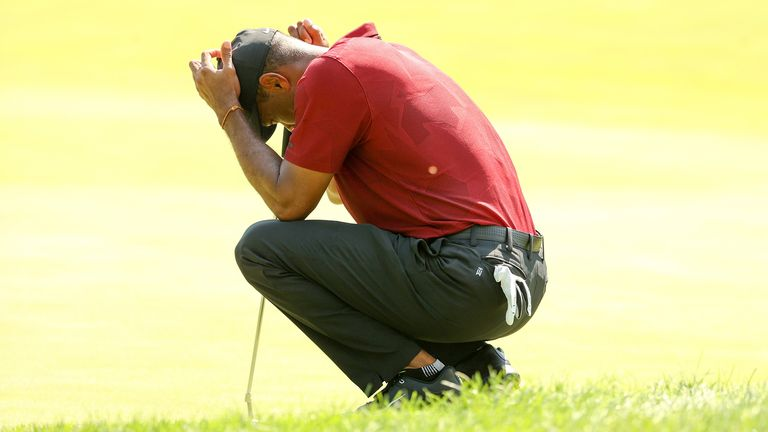 Woods finished six under par at the Northern Trust