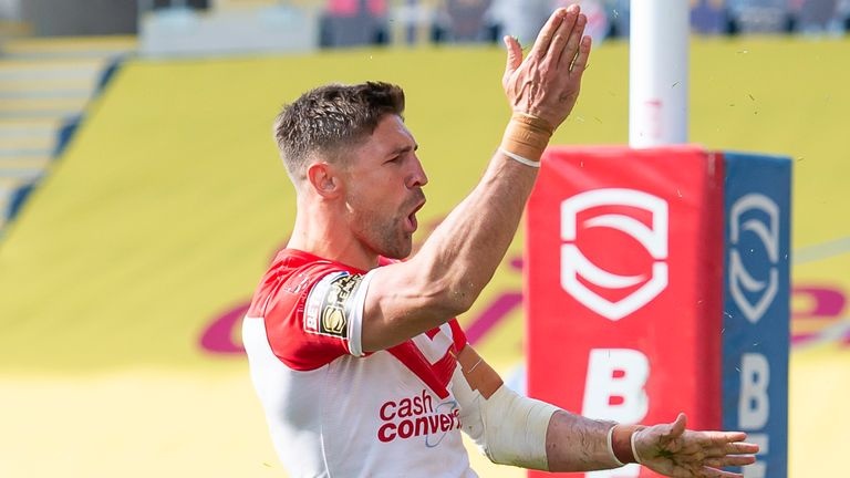 Tommy Makinson helped St Helens to victory on Super League's return
