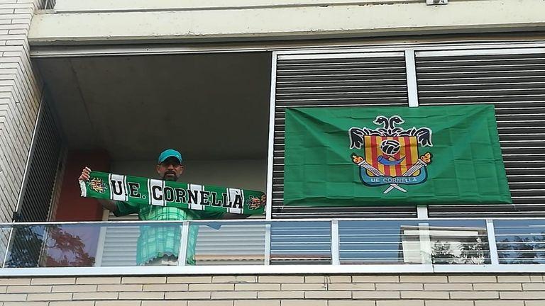UE Cornella's '#IlusionVerde' campaign raised support in Barcelona during their play-off campaign (Image c/o UE Cornella)
