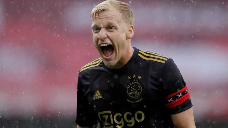 Manchester United have completed the signing of Donny van de Beek from Ajax