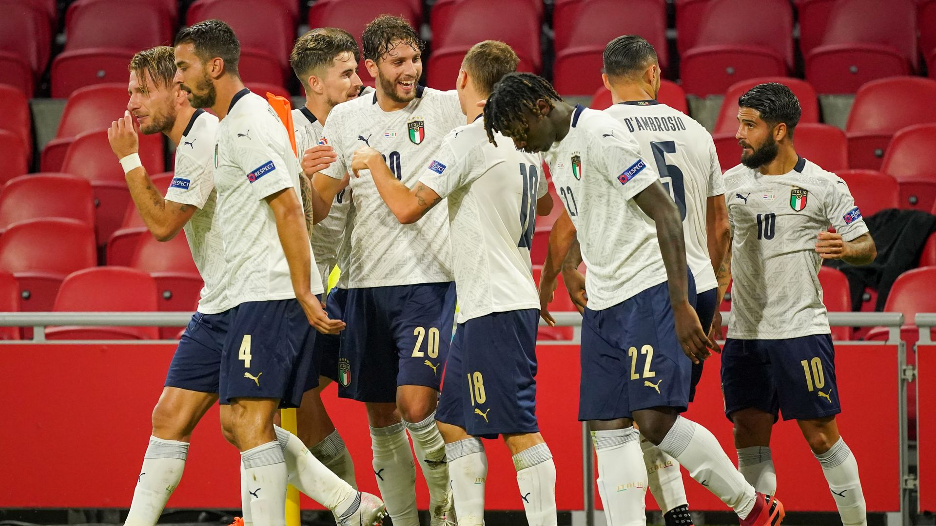 Italy beat Netherlands; wins for Poland and Romania