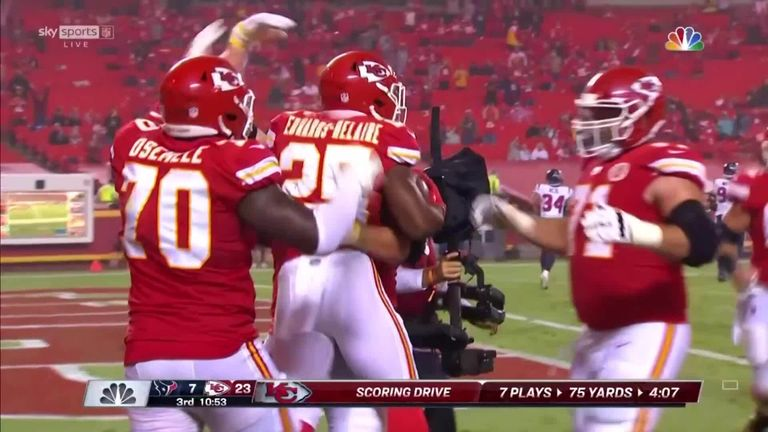 Clyde Edwards-Helaire's stunning first career touchdown saw Kansas City move further ahead against the Texans in the NFL's season opener.