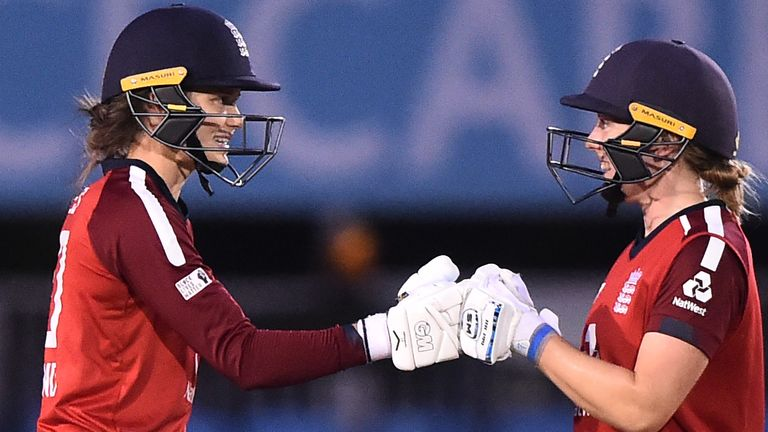 Amy Jones (left) has impressed in England's T20 middle order