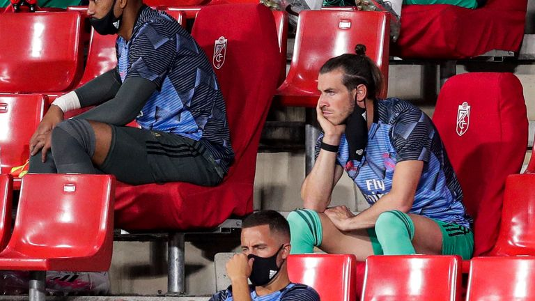 Bale made two appearances for Real Madrid after lockdown