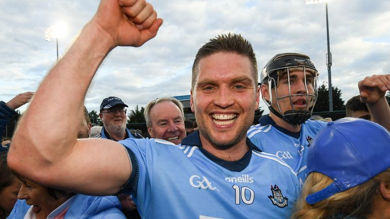 Conal Keaney celebrates the 2019 Leinster Championship win over Galway