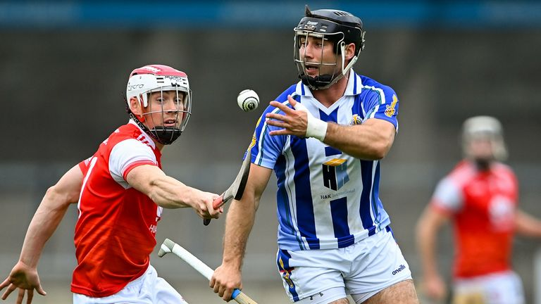 Shane Durkin of Ballyboden St Enda's in action against Con O'Callaghan of Cuala