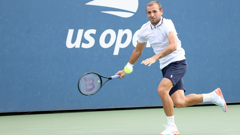 Dan Evans will complete his match against Corentin Moutet on Friday
