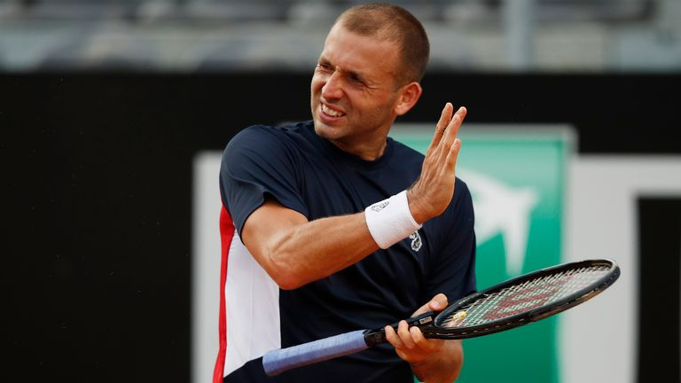 Dan Evans suffered a first-round exit at Foro Italico