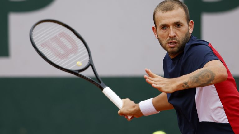 Evans was one of six British singles players that fell in the first round of the French Open