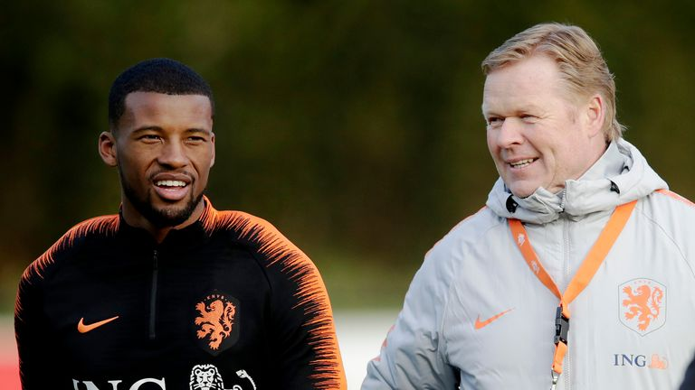 Ronald Koeman and Gini Wijnaldum had a close working relationship during their time together with the Netherlands