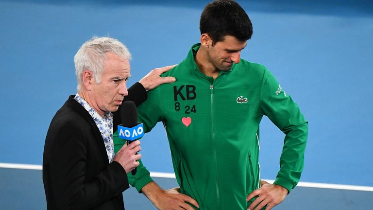 John McEnroe says Djokovic buckled under the pressure