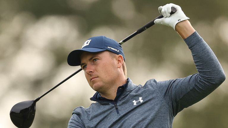 Spieth admitted he's not sure where his ball is going from the tee