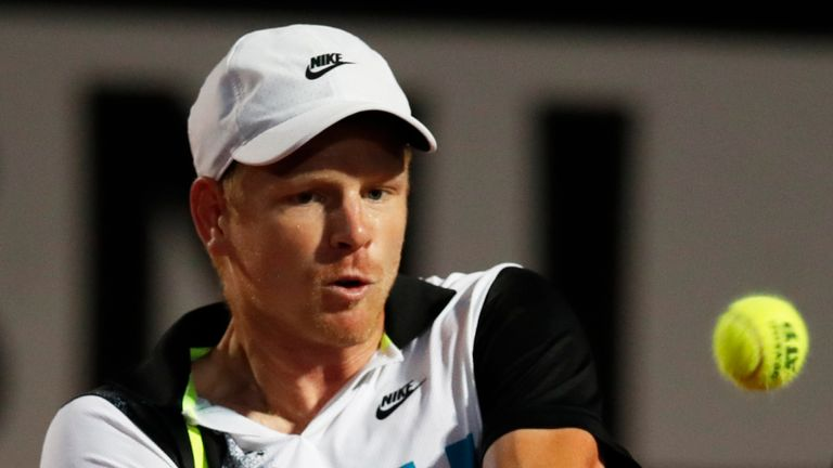 British No 2 Kyle Edmund fell at the first hurdle in Rome