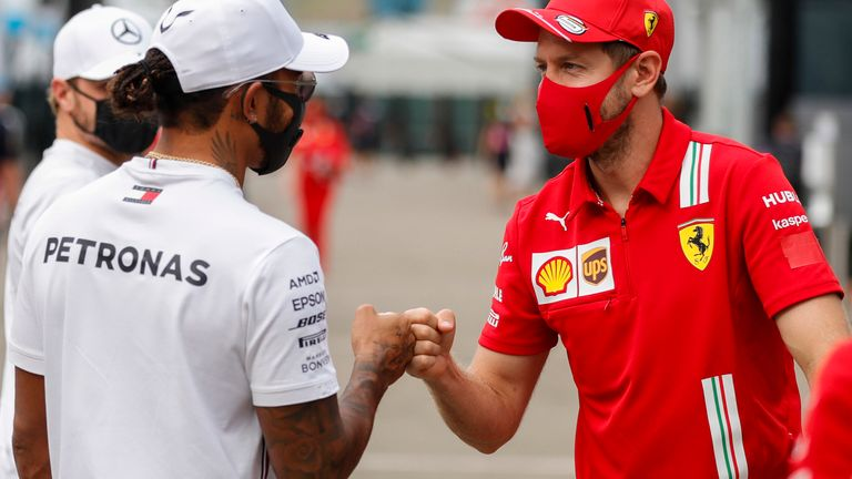 Lewis Hamilton believes Vettel's move to Aston Martin Racing Point for 2021 is exciting for Formula 1 and 'needs to keep the great driver that he is in the sport'