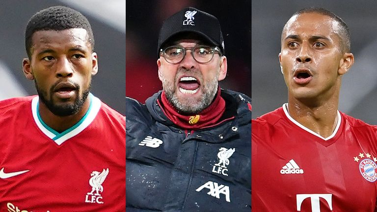 Gini Wijnaldum's future at Anfield has not been resolved, while the club have been heavily linked with Thiago Alcantara