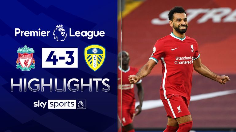 Highlights from Liverpool's 4-3 win over Leeds in the Premier League