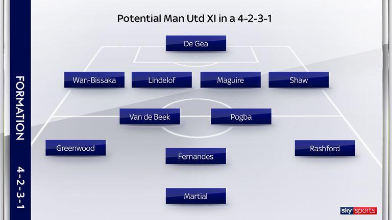 Van de Beek could be used alongside Paul Pogba in Ole Gunnar Solskjaer's favoured 4-2-3-1 formation