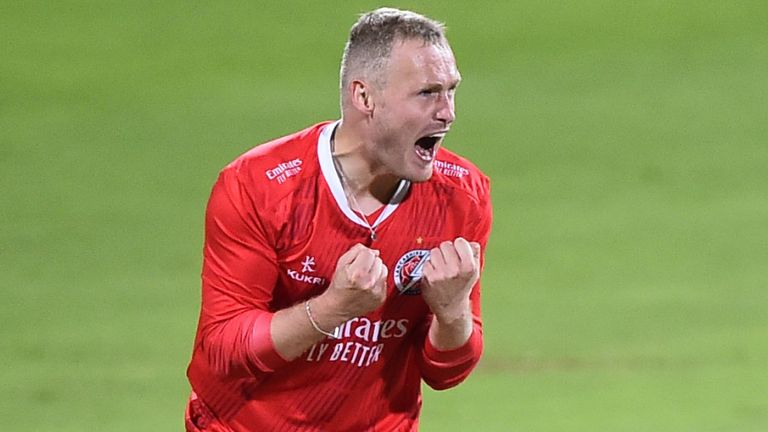 Matt Parkinson took three wickets in an over as Lancashire thrashed Sussex at Hove