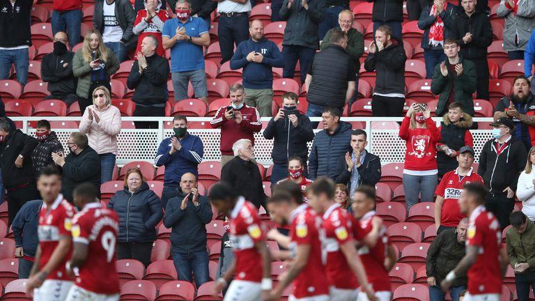 Fans returned at Middlesbrough